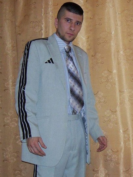 weird russia, strange russia, different in russia, russian adidas suit