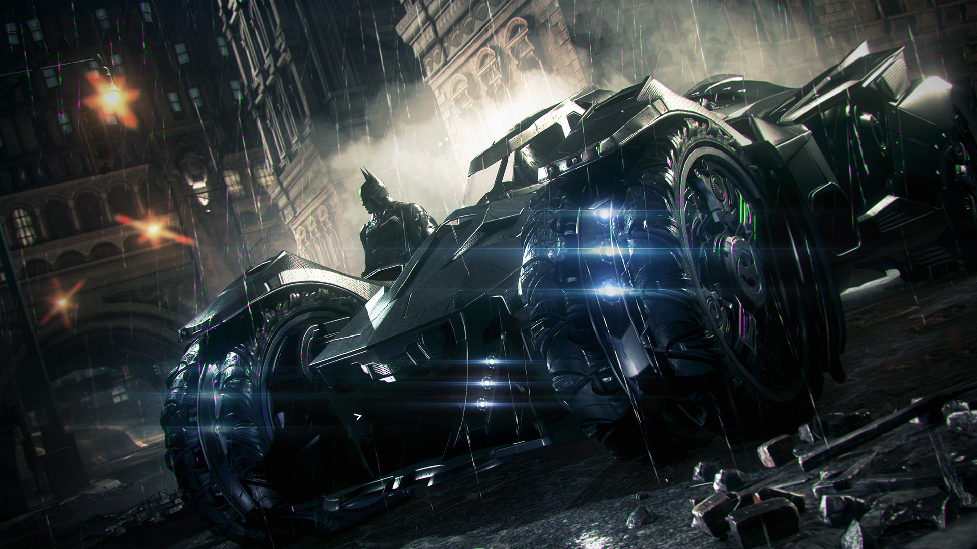 Here's your first look at the Batmobile in Batman: Arkham Knight