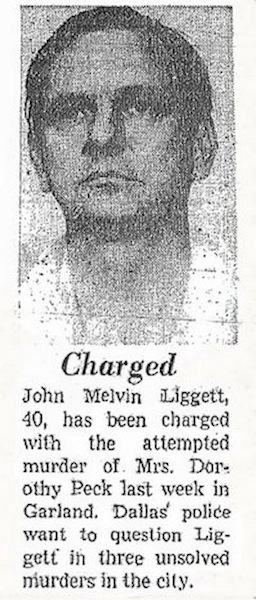 jfk conspiracy theories, jfk assassination, john melvin liggett charged murder
