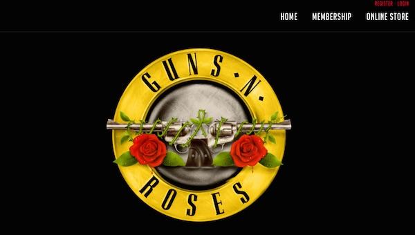 オリジナル「ガンズ・アンド・ローゼス」再始動か?オフィシャルサイトが昔のロゴになりネット上で話題に