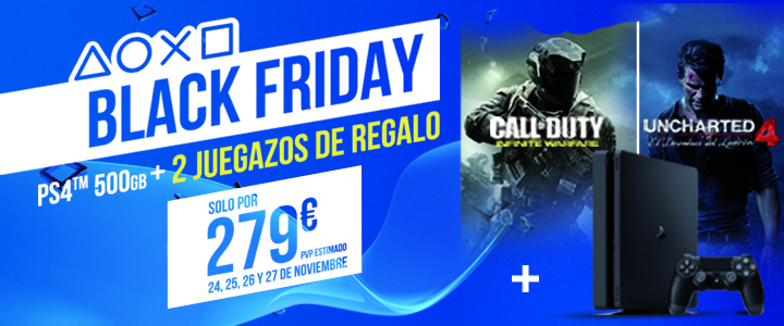 El Black Friday de PlayStation incluye modelo Slim, Call of Duty y Uncharted 4