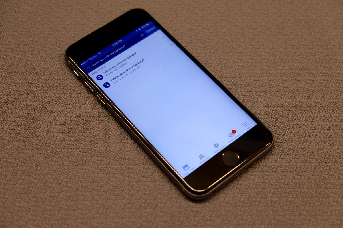 Update Facebook on iOS now to keep it from draining your battery