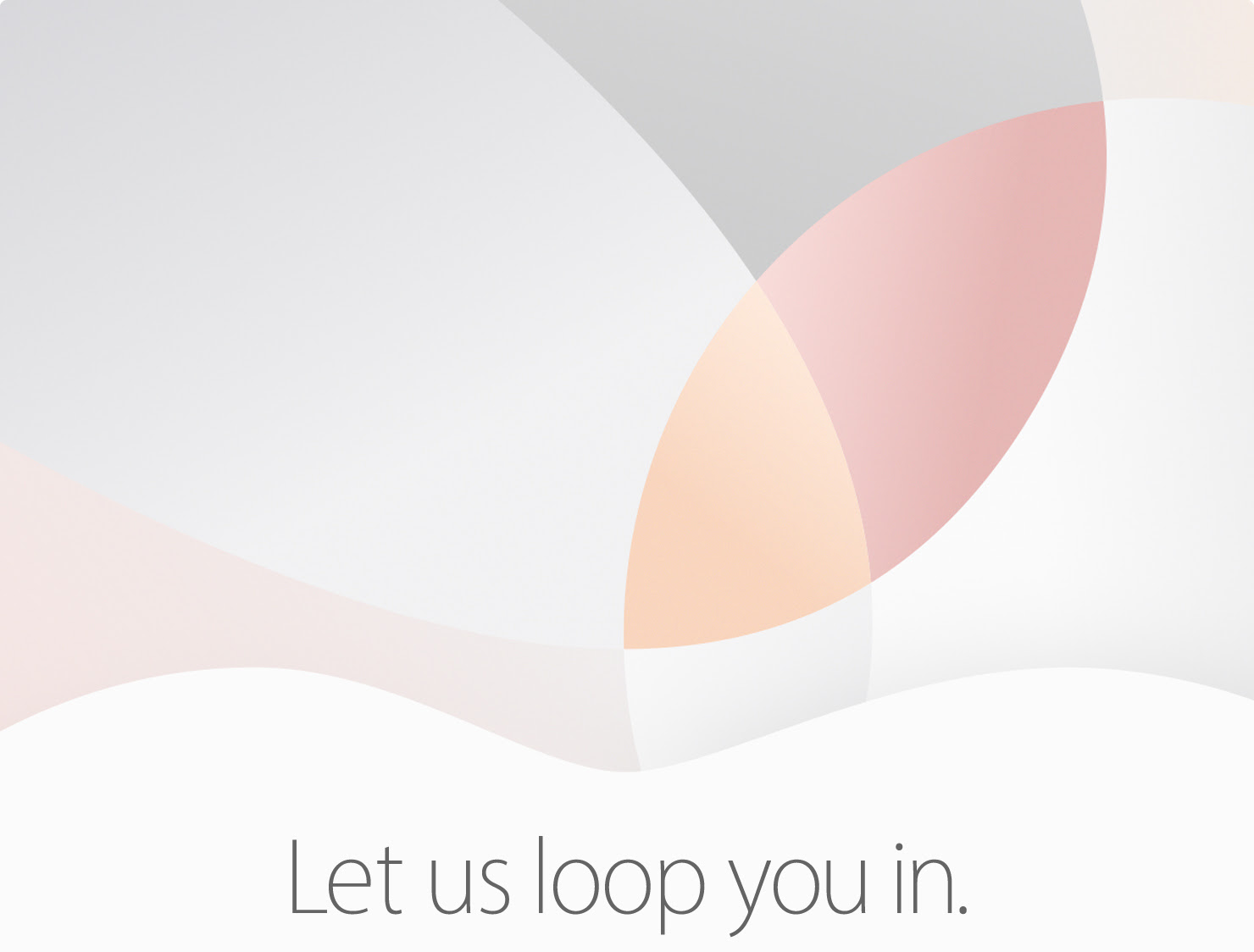 Sigue en video y en directo el evento de Apple 'Loop you in'