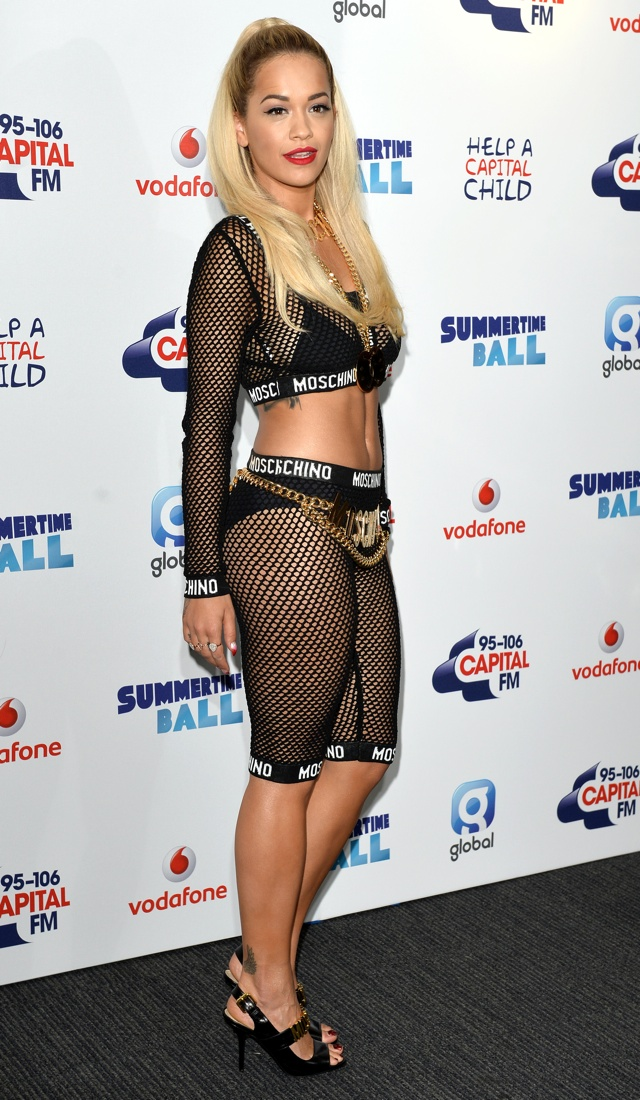 Rita Ora wows in red mesh dress at Capital FM's Summertime Ball
