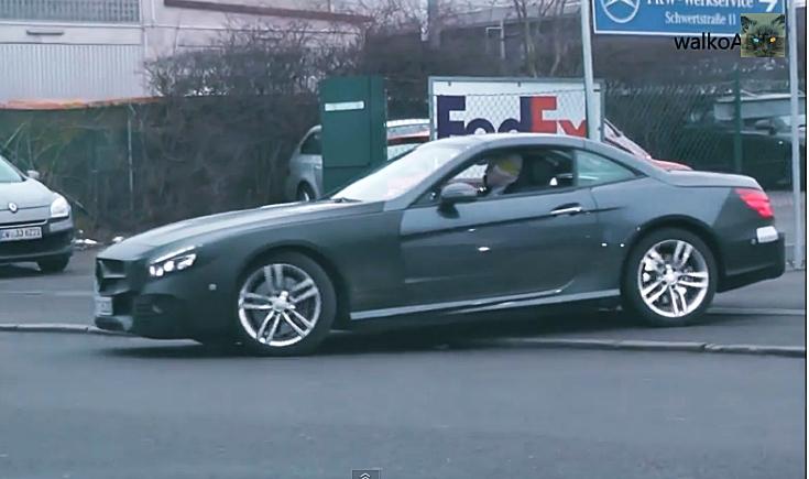 Mercedes-Benz, Mercedes, Mopf, Modellpflege, Facelift, Spy shot, R231, R 231, Video, Mercedes-Benz SL, Erlkönig, Spy shot