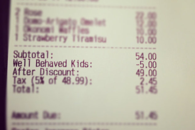 Discount for well behaved children