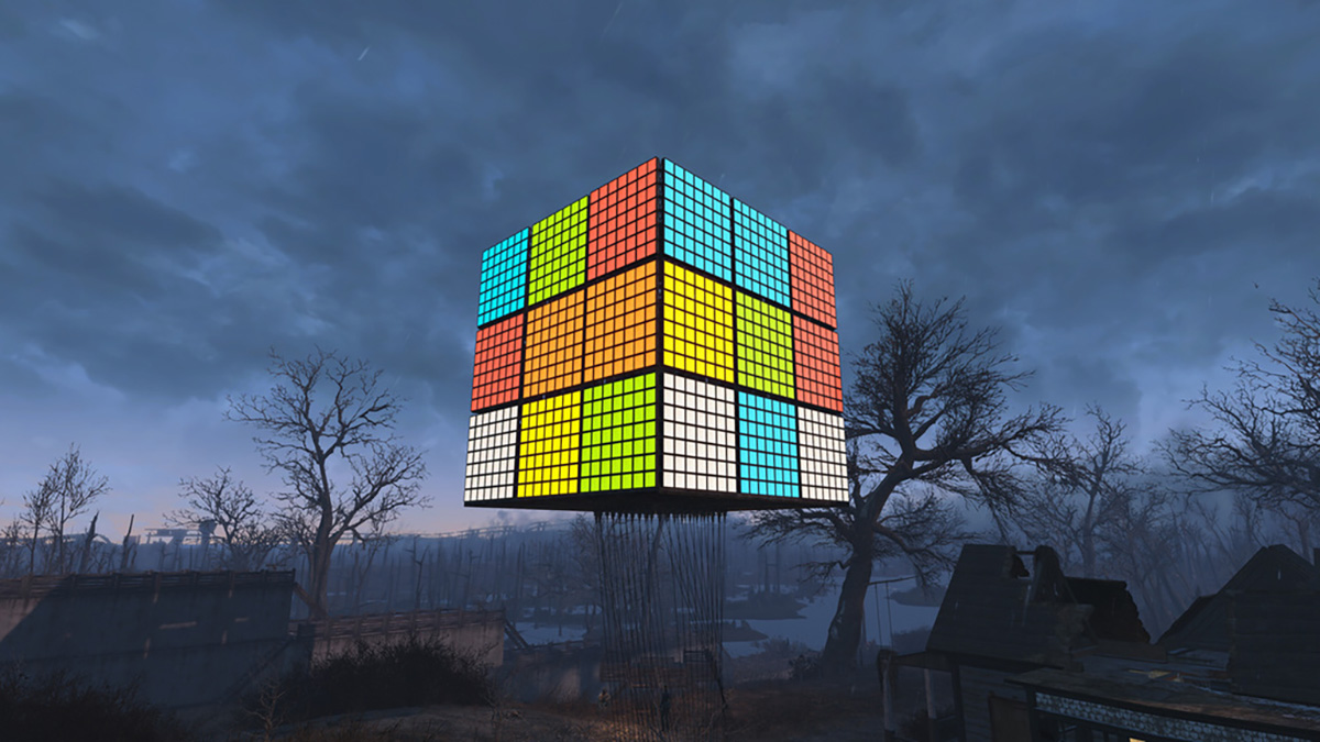 Someone made a giant Rubik's Cube in 'Fallout 4′
