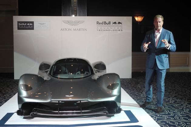 アストンマーティン、レッドブル・レーシングと共同開発したハイパーカー「AM-RB001」を東京で公開