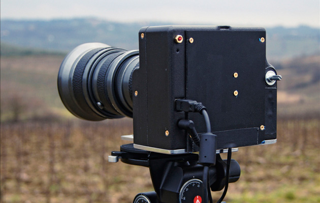 You can make a 143-megapixel camera using a scanner