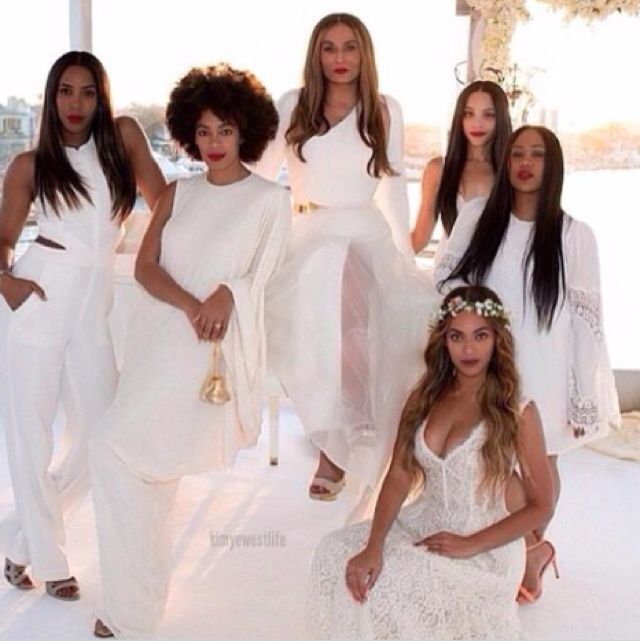 Beyonce steals the show as bridesmaid at mother's wedding