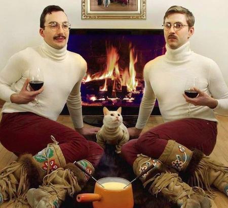funny christmas cards, funny christmas photos, turtleneck christmas
