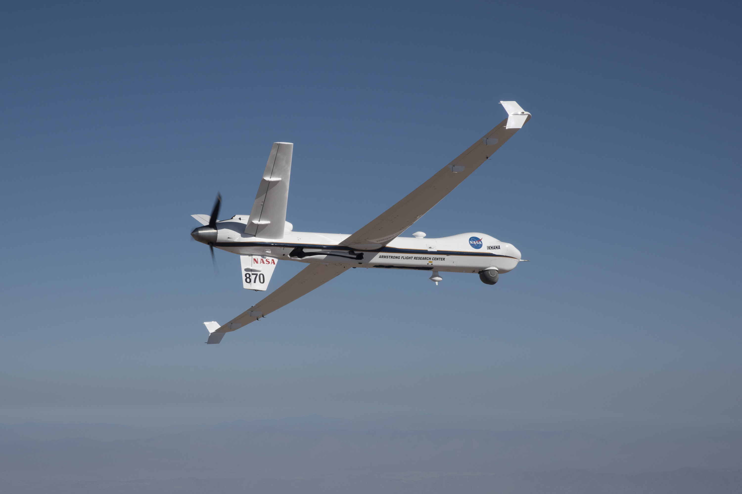 photo image NASA's unmanned drone had its first solo flight in public airspace