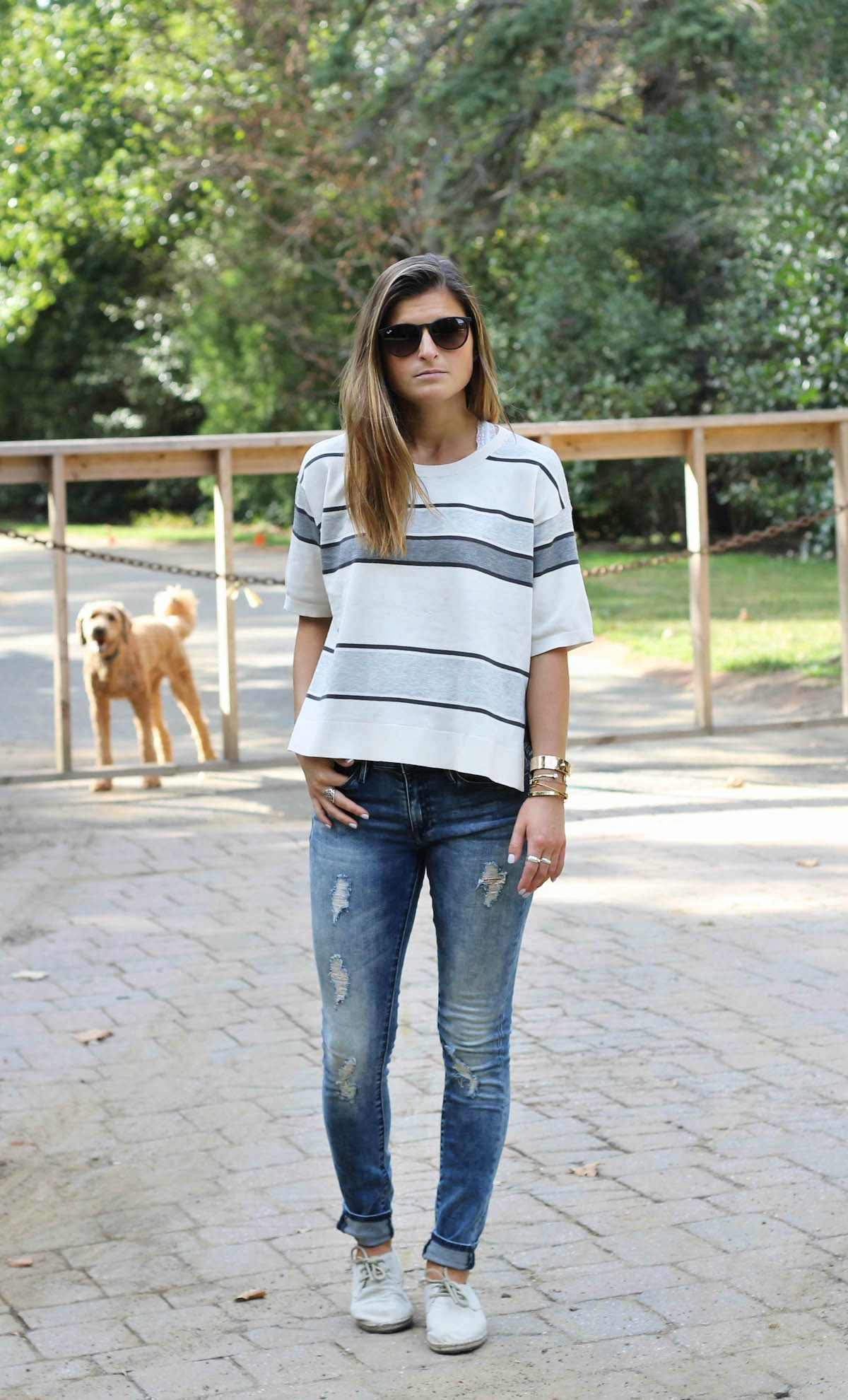 Street style tip of the day: Cozy stripes