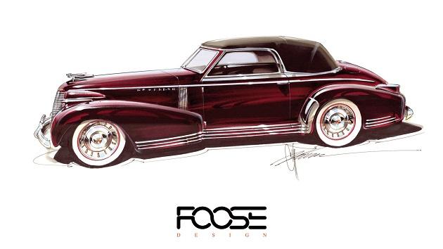 チップ・フース氏、1935年に描かれたキャデラックのデザイン画に命を吹き込む