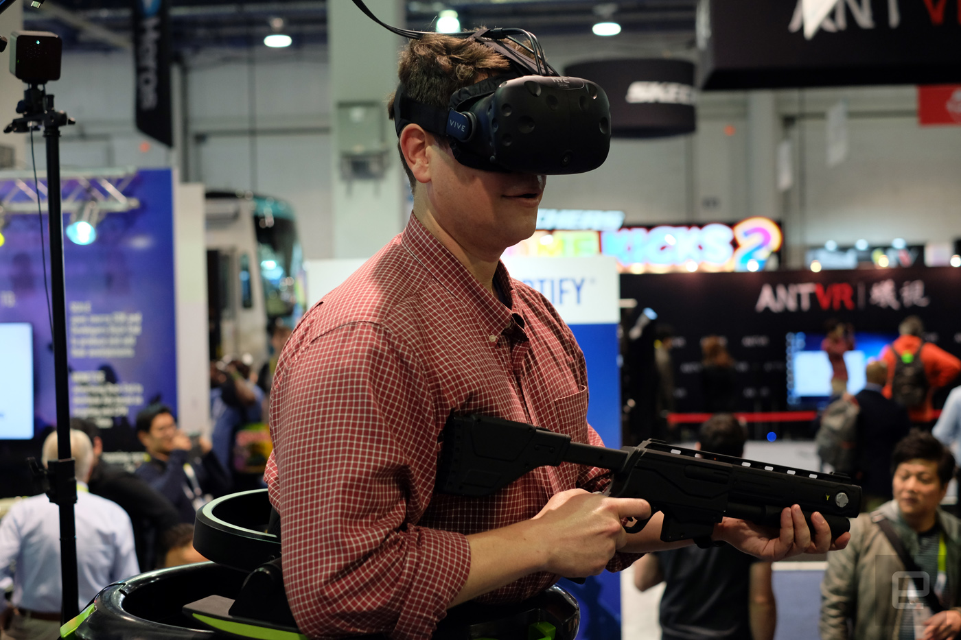 I quite literally ran around a virtual arena and loved it