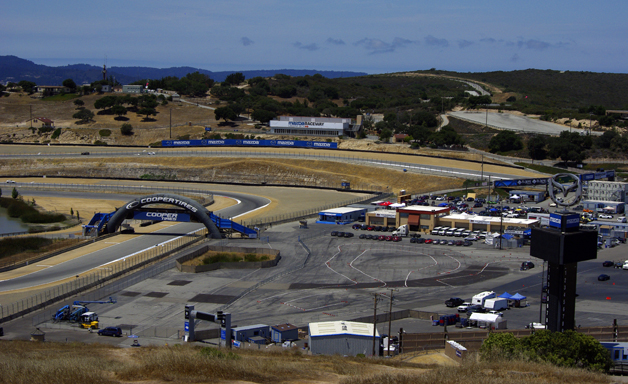 Overlooking Mazda Raceway Laguna Seca