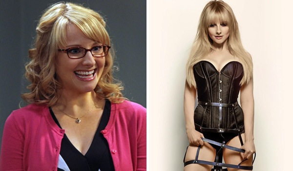 hot girls who played ugly, hot girl ugly tv character, melissa rauch big bang theory