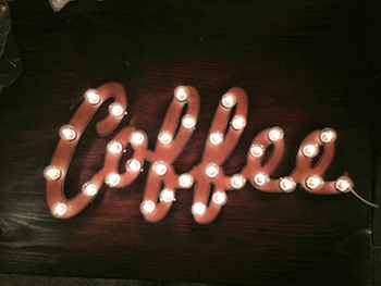 Coffee light-up marquee sign