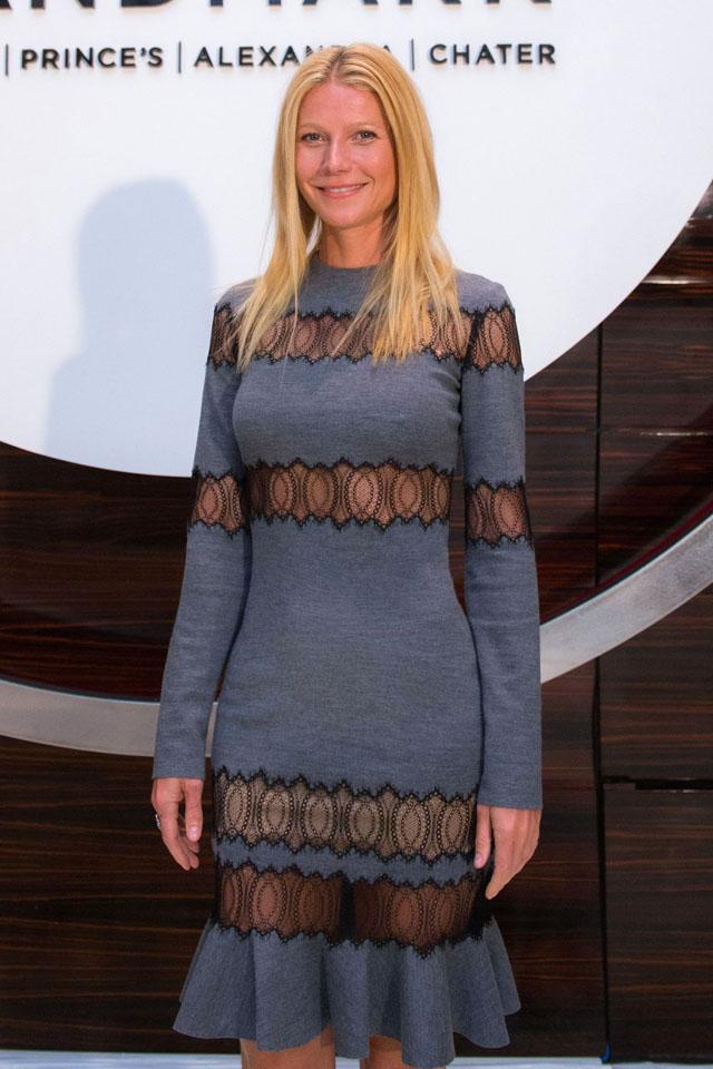 Gwyneth Paltrow Smoulders In Sheer Lace Michael Kors Dress