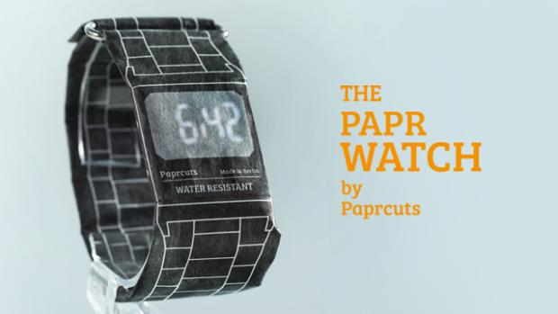 Este reloj digital altamente resistente está hecho ¡de papel!