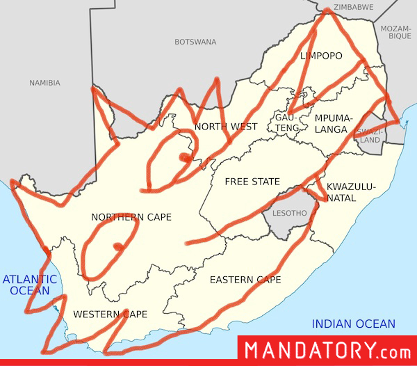 countries that look like pop culture references, funny country outlines, south africa simpsons spirit guide