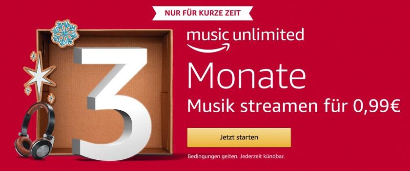 Amazon Music Unlimited: Schnupperangebot verlängert