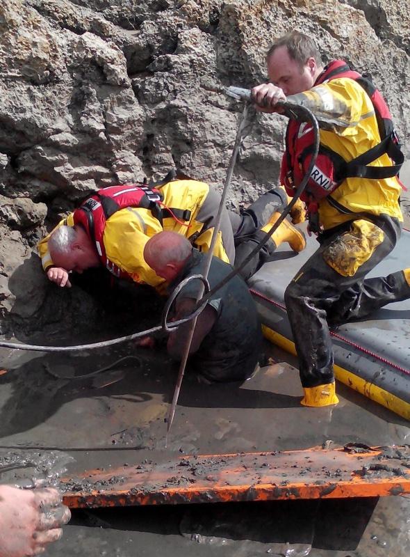 Couple stuck waist-deep in quicksand on Cumbria beach rescued