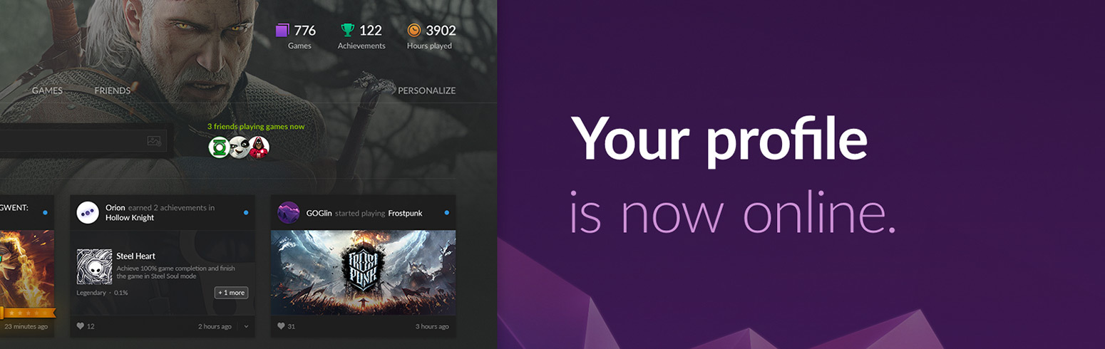 GOG gets social by adding user profiles