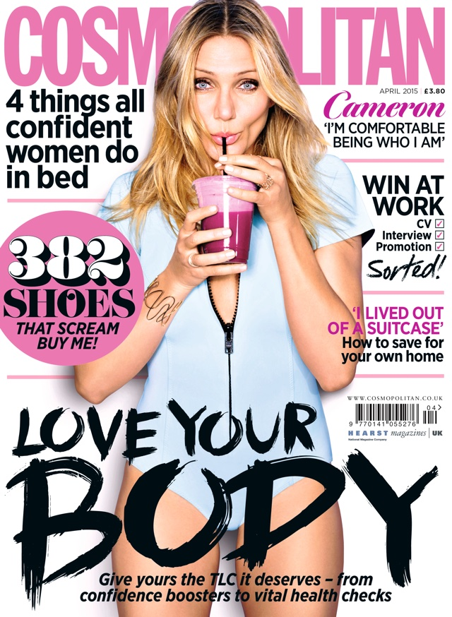 Cameron Diaz talks 'sex and sweating' as she covers Cosmopolitan