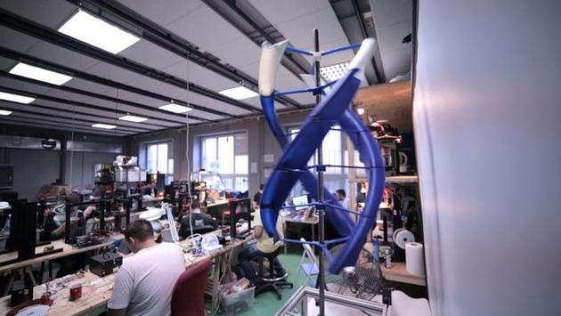 Omni3D's AirEnergy 3D wind turbine prototype