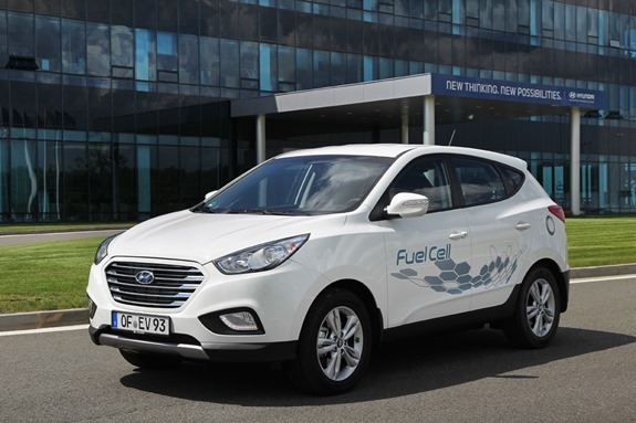 Hyundai, Rekordfahrt, Rekordwagen, Fuel cell, brennstoffzelle, Wasserstoff, Hyundai ix34, Hyundai ix35 Fuel Cell, Weltrekord, rekord