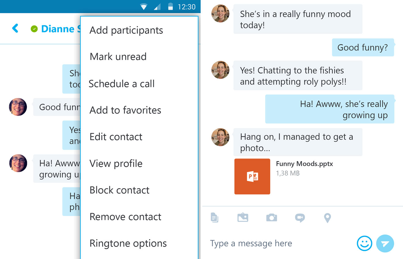 Skype for Android lets you schedule calls, open Office files