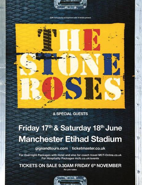 ストーンローゼズ再始動!6月にマンチェスターで大規模ライブが決定