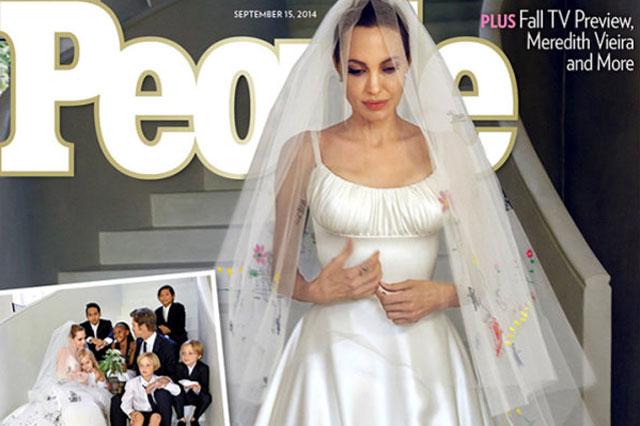 Angelina Jolie and Brad Pitt's wedding photos