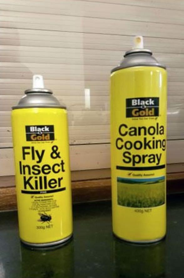 horrible designs, bad design ideas, designs that were horrible misfires, bug killer cooking spray