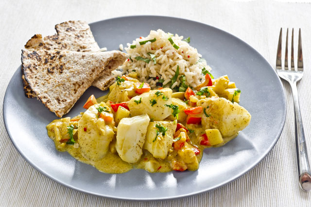 Cod curry in a hurry recipe