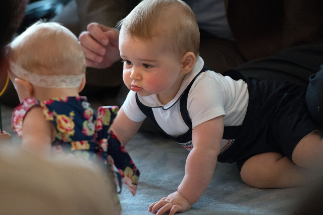 Prince George playgroup on Royal Tour