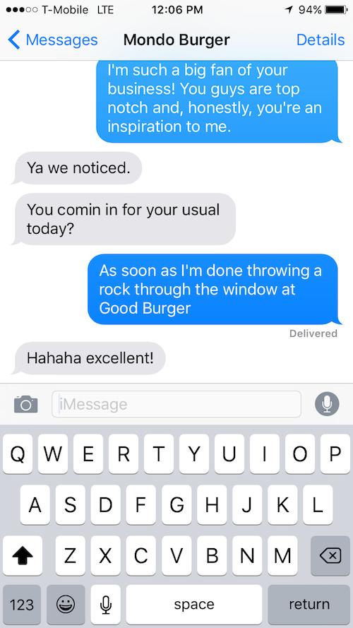 martin shkreli texts, martin shkreli mondo burger
