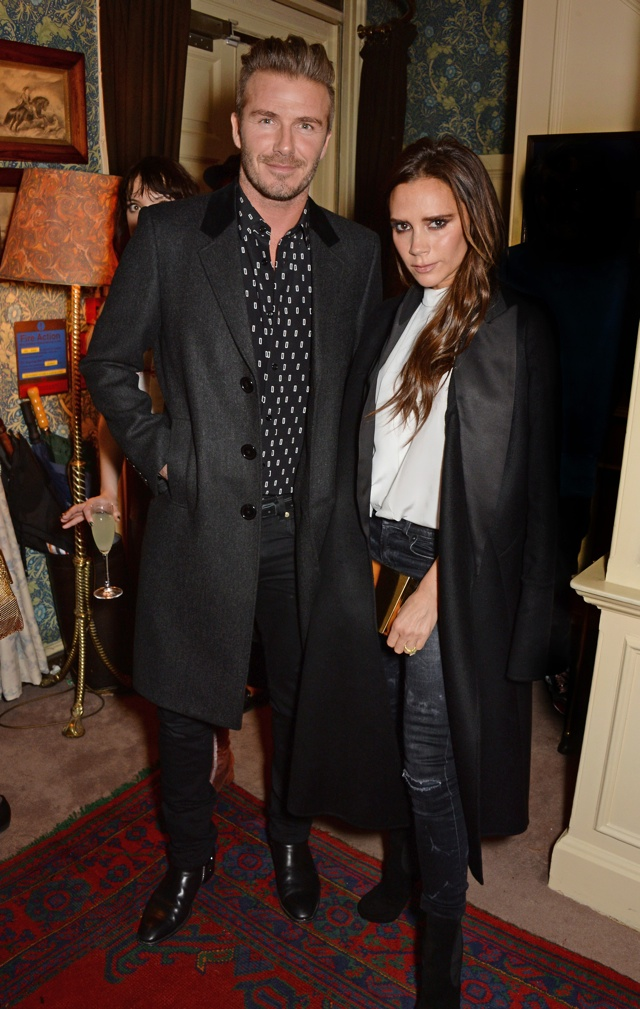 David and Victoria Beckham are super-stylish at Another Man party