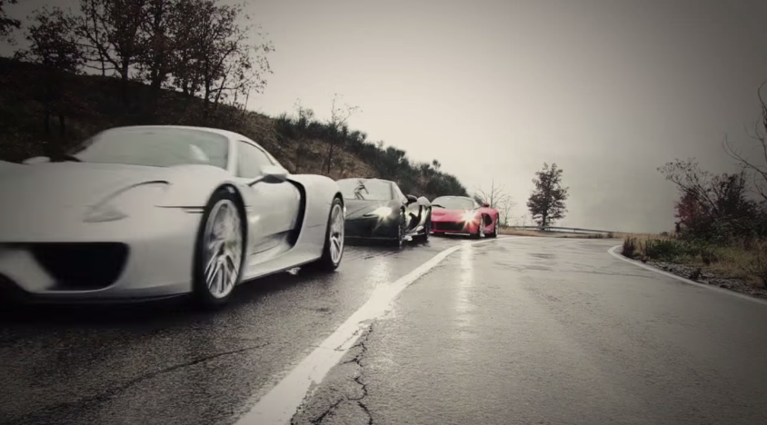 top gear teases porsche 918 vs mclaren p1 vs laferrari showdown. Black Bedroom Furniture Sets. Home Design Ideas