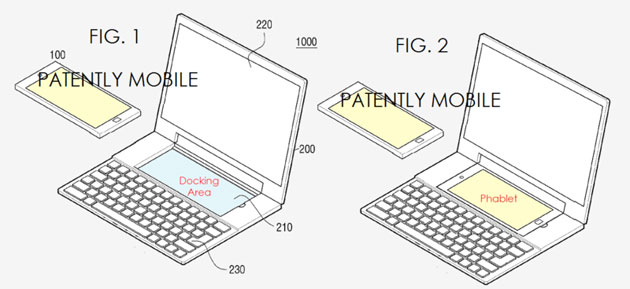 Samsung patented a laptop-smartphone dock with dual OSes
