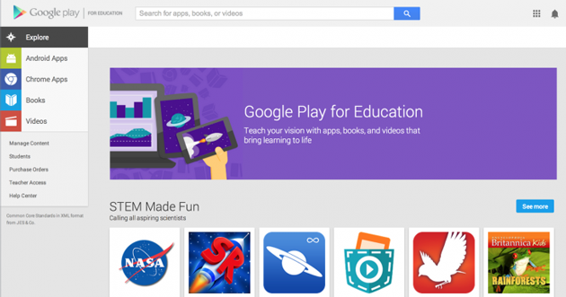 Google Play for Education comes to student Chromebooks