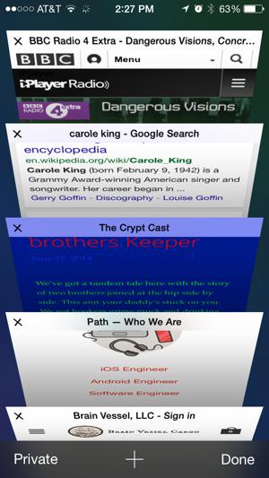 Apple mobile Safari