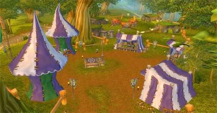 The original Darkmoon Faire in Elwynn Forest