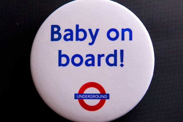 baby on board badges