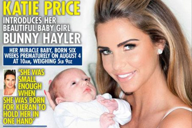 First pictures: Katie Price introduces baby Bunny to the world on cover of OK!