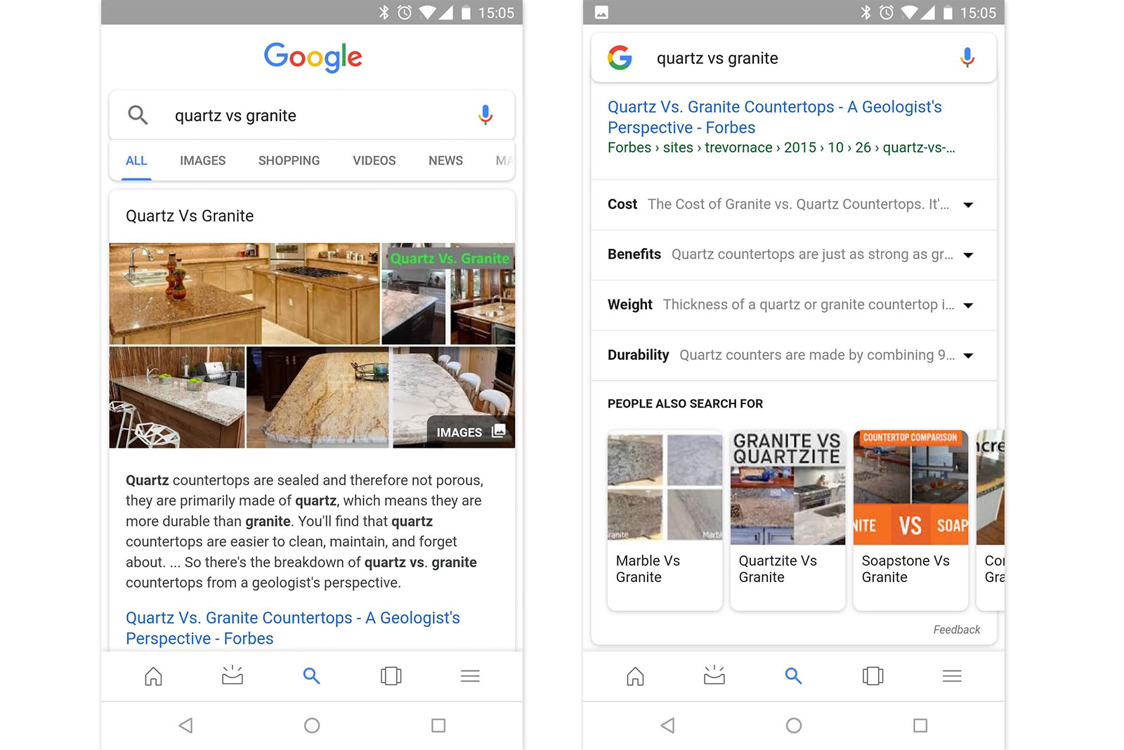 Google refines search to automatically show relevant subtopics