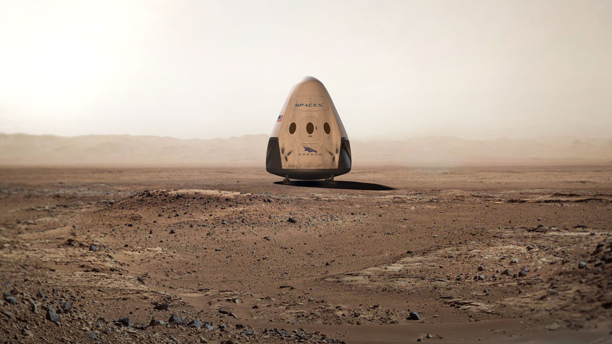 SpaceX envisions a Dragon capsule on Mars
