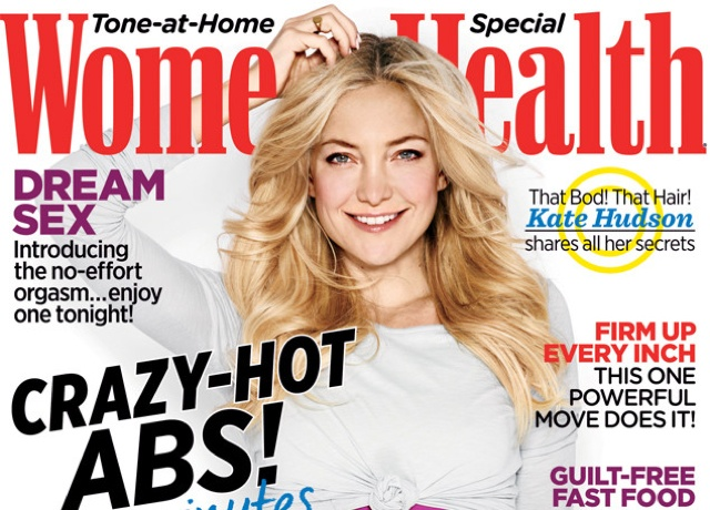 Kate Hudson covers Women's Health October 2014 issue