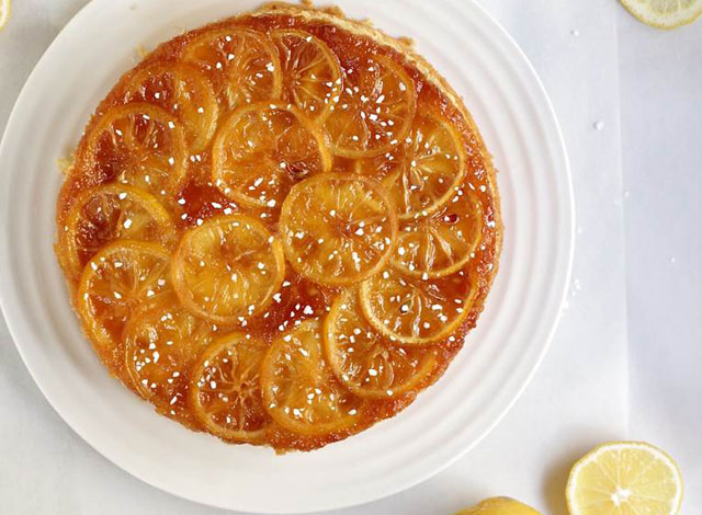 Caramelised lemon cake